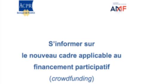 S'informer sur le nouveau cadre applicable au financement participatif (crowdfunding).