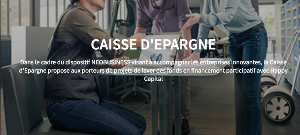 La Caisse d'Epargne et Happy Capital sont partenaires au national en financement participatif