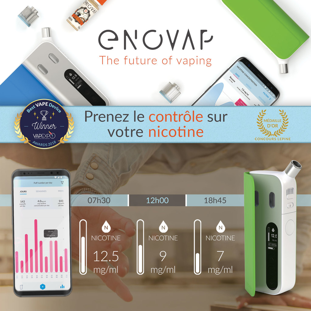 Enovap commercialise l'unique cigarette intelligente au monde. Cette pépite parisienne a choisi Happy Capital pour sa campagne de crowdfunding
