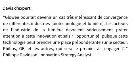 La biotech française Glowee révolutionne le marché de l'éclairage avec une solution durable et vivante.