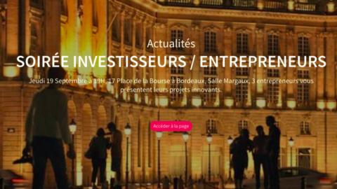 Soirée entrepreneurs & investisseurs – CCI de Bordeaux.