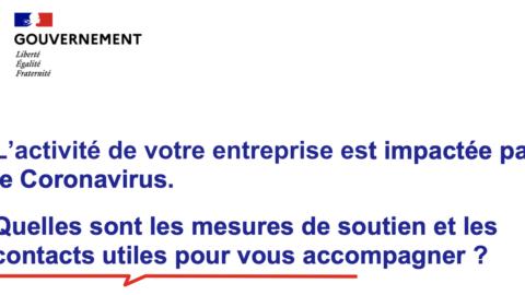 Les principales mesures d'aides et de soutien aux entreprises et contacts utiles suite au coronavirus Covid-19